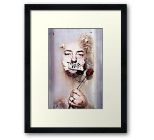 All The Things You'd Say... Framed Print