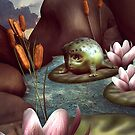 3D Baby frog alien character by njumer