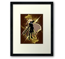 Super Smash Bros. Yellow Lucina Silhouette Framed Print