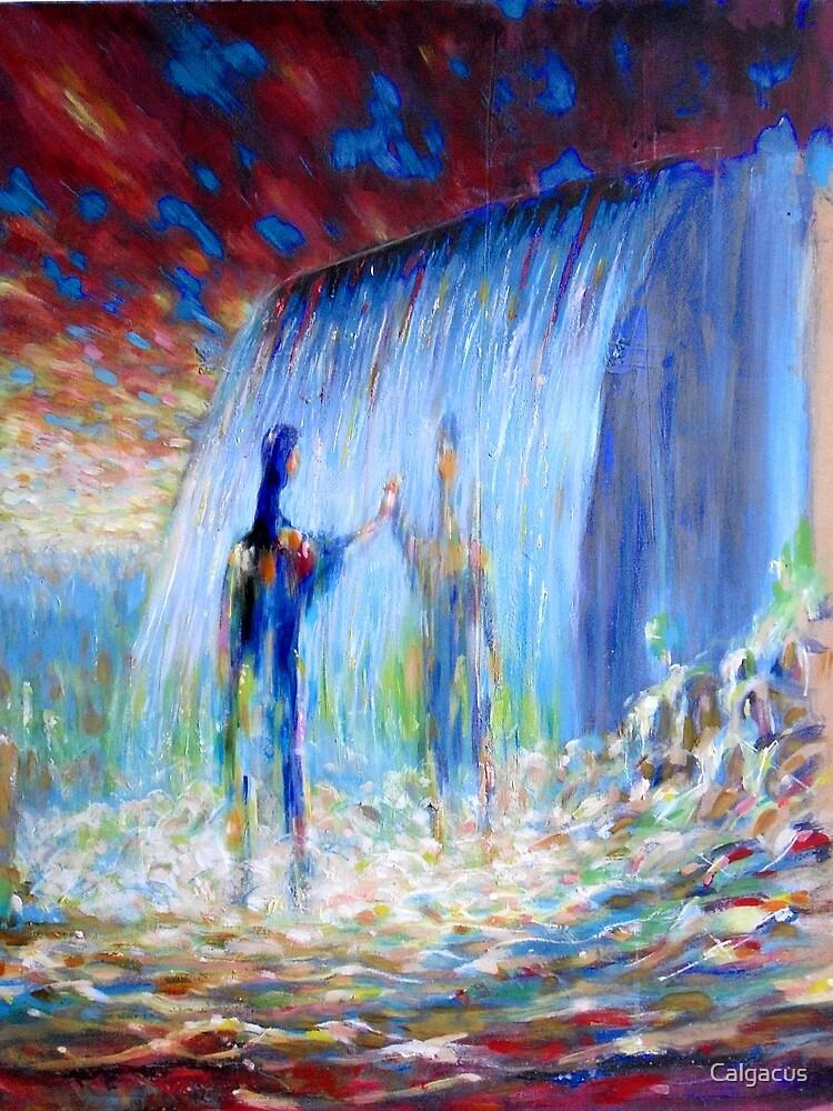 waterfall by Calgacus