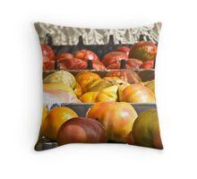 Farmer's Market Tomatoes Throw Pillow