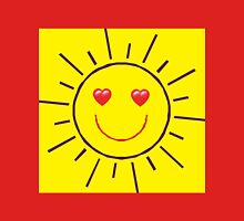 Happy Sunshine Love Womens Fitted T-Shirt