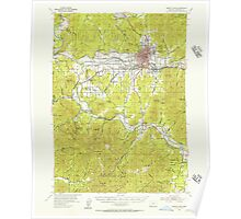 USGS Topo Map Oregon Grants Pass 282546 1954 62500 Poster