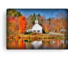 Purling Beck Grange Hall Canvas Print