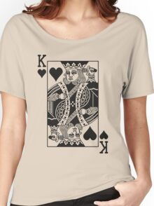 King of Hearts - Black Women's Relaxed Fit T-Shirt
