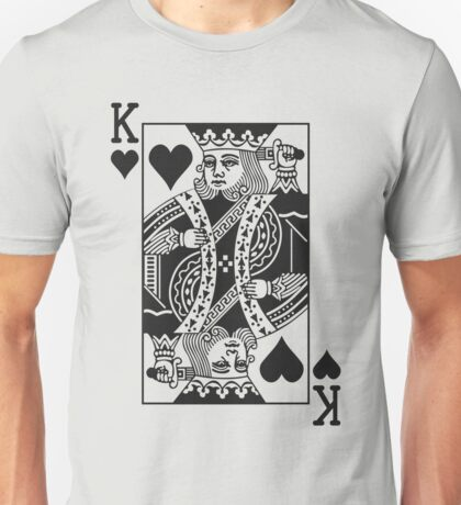 King of Hearts - Black Unisex T-Shirt
