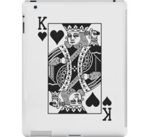King of Hearts - Black iPad Case/Skin