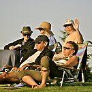 Summer Concert Goers - Enjoying a Summer Eve by Jack McCabe
