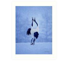 Red Crowned Crane Art Print