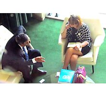 Business Meeting, United Nations - NYC Photographic Print