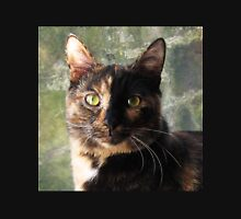 Tortoiseshell cat looking at camera Womens Fitted T-Shirt