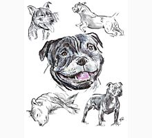 Mixed Media - Staffordshire Bull Terriers Unisex T-Shirt