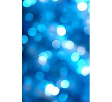 Blue Sparkled Photographic Print