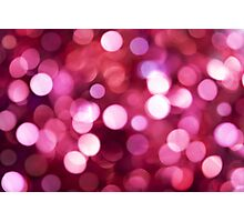 Pink Sparkled Photographic Print