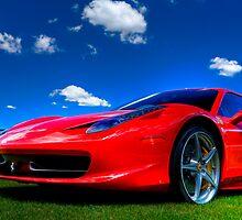 Candy Apple Red Ferrari  by Joe Jennelle