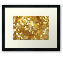 Gold Sparkled Framed Print