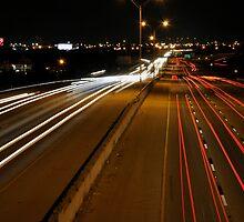 Lightstreaks on Texas 183 by John  Kapusta