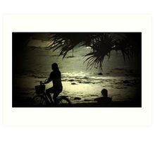 Peaceful at North Burleigh Art Print