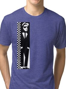 Ska Man Black White Tri-blend T-Shirt