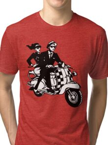 Ska Couple on Scooter Tri-blend T-Shirt