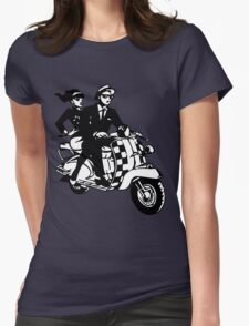 Ska Couple on Scooter Womens Fitted T-Shirt