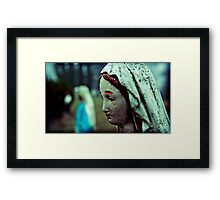 madonna, her twin, in the distance christ Framed Print