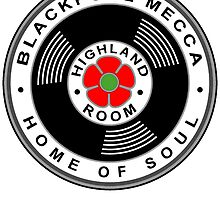 Blackpool Mecca Home of Northern Soul Die Cut Sticker by ukedward