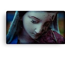 with spiders, madonna prays Canvas Print