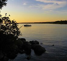 Sunset - East Grand Lake by MaryinMaine