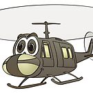 Huey Helicopter Cartoon by Graphxpro