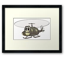 Huey Helicopter Cartoon Framed Print