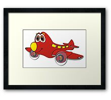 Red Yellow Nose Airplane Cartoon Framed Print