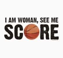 See Me Score - Basketball Black Text by LTDesignStudio