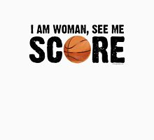 See Me Score - Basketball Black Text T-Shirt