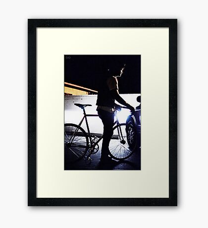 light frame Framed Print