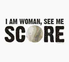 See Me Score - Softball Black Text by LTDesignStudio