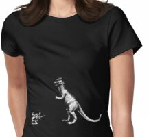 Dinosaur vs soldiers Womens Fitted T-Shirt