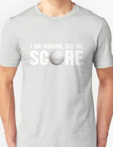 See Me Score - Volleyball White Text Unisex T-Shirt