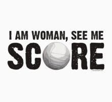 See Me Score - Volleyball Black Text by LTDesignStudio