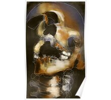 Skully - Abstract Expressionist Skull Poster
