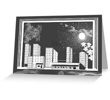 Time And City Space Greeting Card