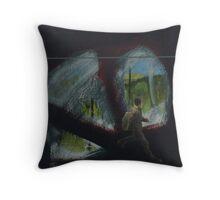 Dark landscape three Throw Pillow