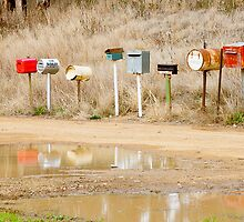 Letterboxes along the Highway by pod309