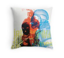 Government security forces shoot protestors Throw Pillow