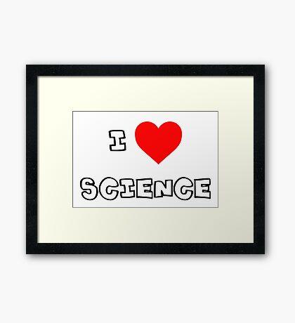 I Heart Science Framed Print
