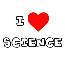 I Heart Science Photographic Print