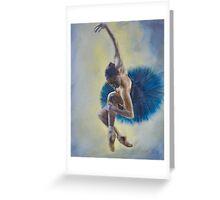76. Blue Dress Dancers (Close-up detail 1) Greeting Card