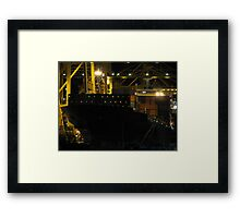 Night Shift Shipping Framed Print