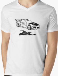 Fast and furios Mens V-Neck T-Shirt