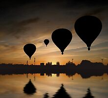 Sunset Balloon Reflection by John Dalkin